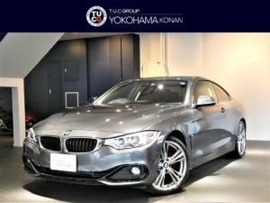BMW 4シリーズ 428iクーペ スポーツ 1オーナー コンフォA インテリS/レーンDW 赤革 ナビTV Bカメラ 前後センサー キセノン OP19インチAW iストップ 2年保証