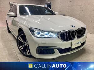 BMW 7シリーズ 740i Mスポーツ リアコンフォートPKG ヘッドアップディスプレイ ブラインドスポットモニター シートヒーター シートベンチレーション 360°カメラ トランク・リッド・スマート・オープナー Harman Kardon