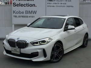BMW 1シリーズ 118d Mスポーツ エディションジョイ+ 電動パノラマサンルーフLEDヘッドライト バックカメラ リバースアシスト 前後センサー アクティブクルーズコントロール 電動リアゲート 純正ミラーETC スマートキー AIアシスタント 純正HDDナビ