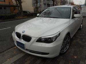 BMW 5シリーズ 525iハイラインパッケージ HPデザイン19インチアルミ アイバッハダウンサス キセノンライト 正規ディーラー車 右ハンドル 黒革 ガラスサンルーフ