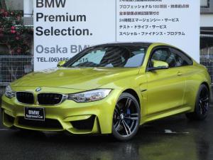 BMW M4 M4クーペ M DCT ドライブロジック 弊社下取1オーナー パーキングサポート カーボンルーフ 純正地デジチューナー ブラックレザー クルーズコントロール 純正HDDナビ LEDライト 純正19インチAW