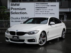 BMW 4シリーズ 420iグランクーペ Mスポーツ ストレージパッケージ  19インチホイール  スポーツブレーキ  ブラックキドニーグリル  TVチューナー アクティブクルーズコントロール  電動リアゲート