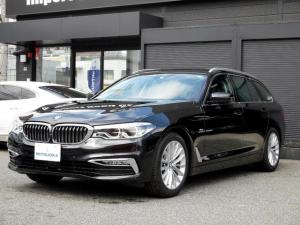 BMW 5シリーズ 523iツーリング ラグジュアリー 本革(電動&4席ヒータ) LEDランプ 360全周囲 追従クルーズ ヘッドアップDISP オートライト(オートハイビーム) ナビETC地デジ 電動リアゲート リアサンシェード ガラスハッチ