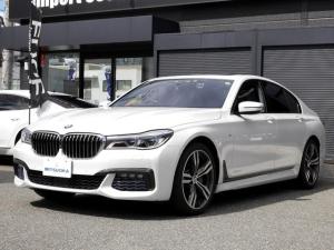 BMW 7シリーズ 740d xDrive Mスポーツ リアコンフォートpkg レーザーライト ヘッドアップDISP 電動黒革(ヒータ&クーラ付) 全周囲3Dカメラ 前後ドラレコ ディスプレイキー(リモートパーキング) サンルーフ コンフォートアクセス