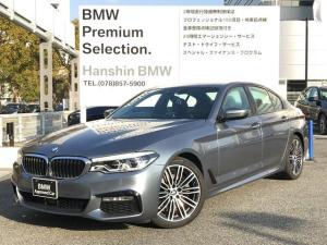 BMW 5シリーズ 523i Mスポーツ ハイラインパッケージ 弊社元デモカー ハイラインパッケージ イノベーションパッケージ ランバーサポート LEDヘッドライト ブラックレザーシート フロント リアシートヒーター ヘッドアップディスプレイ 純正HDDナビG30