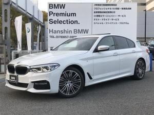 BMW 5シリーズ 540i Mスポーツ ワンオーナー サンルーフ ブラックレザーシート アクティブクルーズコントロール パドルシフト 純正HDDナビ 地デジ 全周囲カメラ 前後シートヒーター  電動リアゲート LEDライト ETC G30