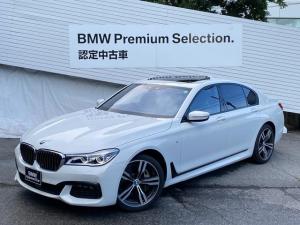 BMW 7シリーズ 740i Mスポーツ ワンオーナー サンルーフ ハーマンカードンスピーカー 純正20インチAW LEDヘッドライト アクティブクルーズコントロール バックカメラ シートヒーター シートエアコン 純正HDDナビ 電動シート