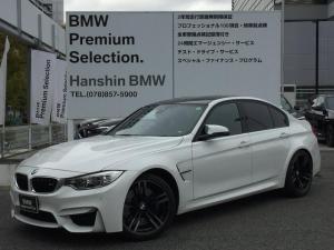 BMW M3 M3 アダプティブMサスペンション カーボンルーフ 19インチアルミホイール LEDヘッドライト 純正HDDナビ 地デジTV 黒革シート シートヒーター 電動シート ミラーETC バックカメラ Mブレーキ