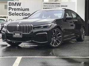BMW 7シリーズ 740d xDrive Mスポーツ ブラックレザー シートヒーター シートエアコン ハーマンカードン 電動ガラスサンルーフ 純正20インチAW アクティブクルーズコントロール 弊社デモカー