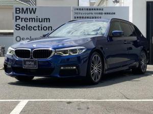 BMW 5シリーズ 523dツーリング Mスポーツ ワンオーナー車両 ウッドパネル リアフィルム 純正19インチAW アクティブクルーズコントロール 電動フロントシート 電動リアゲート