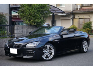 BMW 6シリーズ 640iカブリオレ Mスポーツ 1オーナー記録簿 黒革 純正ナビ 地デジ ETC バックカメラ クルーズコントロール シートヒーター 3L直列6気筒ツインスクロールターボ アダプティブLEDヘッドライト 障害物センサー