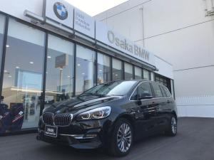 BMW 2シリーズ 218iグランツアラー ラグジュアリー 弊社デモカー・ブラックレザーシート・ヘッドアップディスプレイ・電動リアゲート・コンフォートアクセス・アクティブクルーズコントロール・純正HDDナビ・バックカメラ・ETC車載器