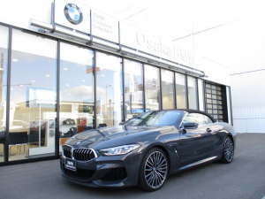 BMW 8シリーズ M850i xDriveカブリオレ 弊社下取ワンオーナー・Bowers & Wilkins・アイボリーエクステンドレザー・レーザーライト・ソフトクローズドア・純正20インチアロイホイールワイヤレスチャージング・認定中古車・全国保証
