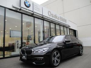 BMW 7シリーズ 740i Mスポーツ 弊社下取りワンオーナー ブラックレザーシート 前後シートヒーター シートエアコン 電動ガラスサンルーフ アクティブクルーズコントロール 衝突被害軽減ブレーキ 純正20インチアロイホイール 認定中古車