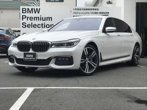 BMW 7シリーズ 750Li Mスポーツ 弊社下取り車輛・アクティブクルーズコントロール・後席モニター・ヘッドアップディスプレイ・ガラスサンルーフ・純正20インチアロイホイール・純正HDDナビ・地デジ・バックカメラ・認定中古車・全国1年保証