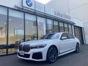 BMW 7シリーズ 745e Mスポーツ 弊社デモカー・コニャックレザーシート・ガラスサンルーフ・レーザーライト・アクティブクルーズコントロール・ヘッドアップディスプレイ・ソフトクローズドア・純正HDDナビ・地デジ・バックカメラ・