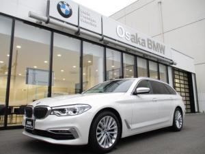 BMW 5シリーズ 523dツーリング ラグジュアリー 弊社下取りワンオーナー・ブラックレザーシート・アクティブクルーズコントロール・純正HDDナビ・地デジチューナー・リアビューカメラ・LEDヘッドライト・電動リアゲート・全国保証・認定中古車