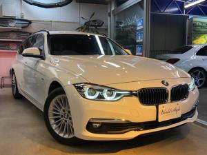 BMW 3シリーズ 320dツーリング ラグジュアリー 後期モデル 黒革 ACC  衝突軽減ブレーキ 車線逸脱防止 地デジTV バックカメラ ドライブレコーダー パワーテールゲート コンフォートアクセス LEDヘッドライト シートヒーター PWシート 禁煙