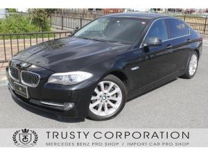 BMW 5シリーズ 528i ユーザー様下取 黒本革シート シートヒーター 地デジ 純正18インチホイール エンジンPUSHスタート