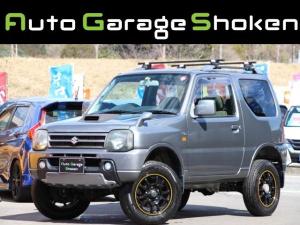スズキ ジムニー ワイルドウインド 4WDターボ リフトアップ ルーフキャリア 社外16インチAW 社外SDナビ フルセグ シートヒーター