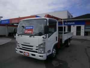 いすゞ エルフトラック ワイドキャブ ロングボディ 4段クレーン