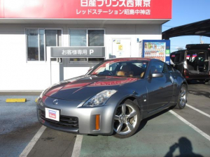 日産 フェアレディZ バージョンT オレンジ本革シート ETC キセノン シートヒーター