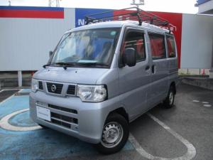 日産 NV100クリッパーバン 660 DX ハイルーフ ルーフキャリア AT車