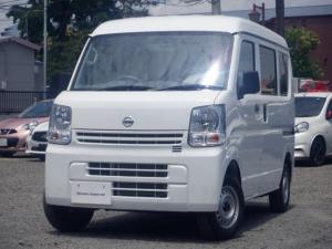 日産 NV100クリッパーバン DX ハイルーフ 4WD 未登録・保管中ルーフ雪害車両(修理済)