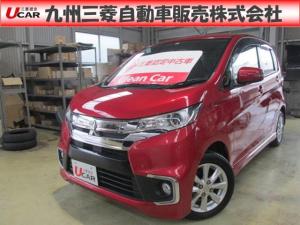 三菱 eKカスタム 660GアイドリングストップシートヒーターステアリングS/W
