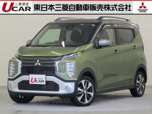三菱 eKクロス T タ-ボHV/9型ナビ/ル-フレ-ル/被害軽減/禁煙