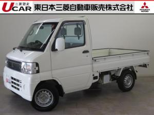 三菱 ミニキャブトラック 660 VX-SE 4WD 5速MTフロアシフト ワンオーナ エアコン・パワステ・AMラジオ・サイドバイザー・スチールホイール・運転席SRSエアバック