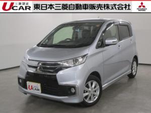 三菱 eKカスタム Gセーフティパッケージ 認定U-CAR ナビゲーション&TV