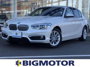 BMW 1シリーズ 118d スタイル アイドリングストップ シートヒーター前席 定期点検記録簿 禁煙車 取扱説明書・保証書 盗難防止システム クルーズコントロール ETC 純正メモリーナビ ドライブレコーダー社外 Bluetooth接続