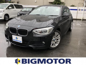 BMW 1シリーズ 116i_Mスポーツ 純正 HDDナビ/ETC/EBD付ABS/横滑り防止装置/アイドリングストップ/エアバッグ 運転席/エアバッグ 助手席/エアバッグ サイド/アルミホイール/パワーウインドウ/キーレスエントリー 記録簿