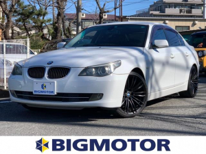 BMW 5シリーズ 525iハイラインパッケージ 純正 HDDナビ/ETC/EBD付ABS/横滑り防止装置/エアバッグ 運転席/エアバッグ 助手席/エアバッグ サイド/アルミホイール/パワーウインドウ/オートエアコン/シートヒーター 前席 電動シート