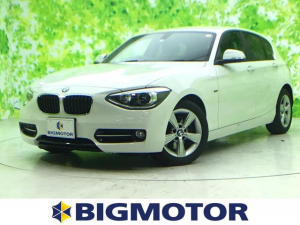 BMW 1シリーズ 116iスポーツ 純正 HDDナビ/ETC/EBD付ABS/横滑り防止装置/アイドリングストップ/エアバッグ 運転席/エアバッグ 助手席/エアバッグ サイド/アルミホイール/パワーウインドウ/キーレスエントリー
