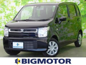 スズキ ワゴンR FX 現行型/セーフティサポート/プッシュスタート/EBD付ABS/横滑り防止装置/アイドリングストップ/エアバッグ 運転席/エアバッグ 助手席/パワーウインドウ/キーレスエントリー/オートエアコン