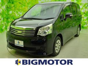 トヨタ ノア X 純正 7インチ HDDナビ/電動スライドドア/ETC/EBD付ABS/エアバッグ 運転席/エアバッグ 助手席/パワーウインドウ/キーレスエントリー/オートエアコン/パワーステアリング/ワンオーナー
