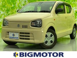 スズキ アルト 4WD L EBD付ABS/横滑り防止装置/アイドリングストップ/エアバッグ 運転席/エアバッグ 助手席/パワーウインドウ/キーレスエントリー/シートヒーター 前席/パワーステアリング/ワンオーナー 記録簿