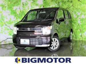スズキ ワゴンR FX MC後モデル後退時ブレーキサポート/プッシュスタート/EBD付ABS/横滑り防止装置/アイドリングストップ/エアバッグ 運転席/エアバッグ 助手席/パワーウインドウ/キーレスエントリー/オートエアコン
