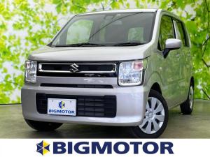 スズキ ワゴンR FX デュアルセンサーブレーキサポート/EBD付ABS/横滑り防止装置/アイドリングストップ/エアバッグ 運転席/エアバッグ 助手席/パワーウインドウ/キーレスエントリー/オートエアコン 禁煙車