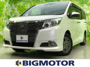 トヨタ エスクァイア Gi 純正 7インチ メモリーナビ/サンルーフ/両側電動スライドドア/プリクラッシュセーフティ/ヘッドランプ LED/Bluetooth接続/ETC/EBD付ABS/横滑り防止装置/アイドリングストップ