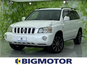 トヨタ クルーガーV FOUR_Sパッケージ 社外 7インチ HDDナビ/ヘッドランプ HID/ETC/EBD付ABS/TV/ルーフレール/エアバッグ 運転席/エアバッグ 助手席/アルミホイール/パワーウインドウ/オートエアコン 4WD