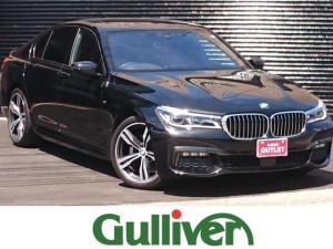 BMW 7シリーズ 740i Mスポーツ サンルーフ レザーシート シートヒーター エアシート インテリジェントセーフティ アダクティブクルーズ レーンキープ パーキングアシスト 全周囲カメラ パワーリアゲート 純正LEDライト 純正ナビ