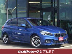 BMW 2シリーズ 218dアクティブツアラー Mスポーツ 純正ナビ DVD再生 Bluetooth接続 バックカメラ ETC プッシュスタート スマートキー MTモード付きAT AUTOライト HID フォグランプ 電子パーキング ステアリングスイッチ