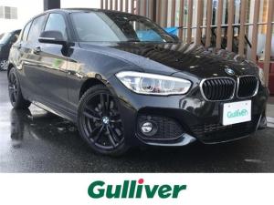 BMW 1シリーズ  ・Mスポーツ・メーカーナビ・BLUETOOTH・バックカメラ・クルーズコントロール・リアコーナーセンサー・アイドリングストップ・17インチAW・純正17インチAW車載・ビルトインETC・LEDライト
