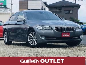 BMW 5シリーズ 523i ハイラインパッケージ 純正HDDナビ(CD/DVD/フルセグTV/Bluetooth) 黒レザーシート バックカメラ ミラー一体型ETC シートヒーター パワーシート 革巻きステアリング ステアリングリモコン