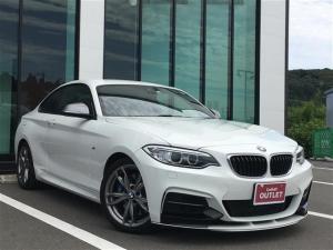 BMW 2シリーズ M235iクーペ 衝突軽減ブレーキ車線逸脱防止機能純正ナビバックカメラクルーズコントロールパドルシフトコーナーセンサー純正17インチAWスペアキー保証書取扱説明書