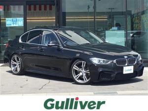BMW 3シリーズ 328iラグジュアリー M4仕様タイプバンパー/マフラー4出/19インチアルミホイール/ローダウン/サンルーフ/黒革シート/シートヒーター/純正ナビ/フルセグ/Bluetooth/バックカメラ/ETC/クルーズコントロール