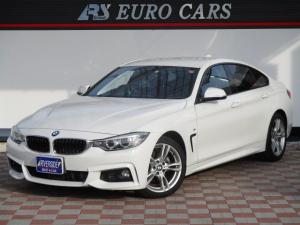 BMW 4シリーズ 420iグランクーペ Mスポーツ ワンオーナー 記録簿 アイドリングストップ バックカメラ ツインパワーターボ 純正18インチアルミ スマートキー プッシュスターター メモリーパワーシート 純正ナビ Bカメラ パワーバックドア
